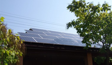 Solar power station with installed power capacity 13,78 kW