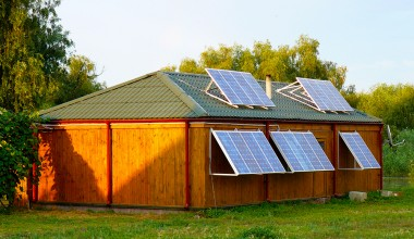 Solar power station with installed power capacity 2,3 kW