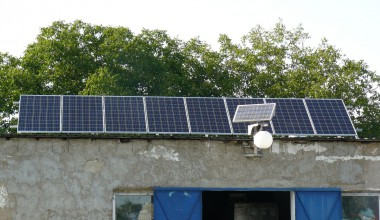 Solar power station with installed power capacity  2,12 kW