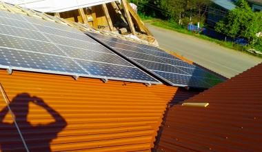 Solar station with installed power capacity 10 kW